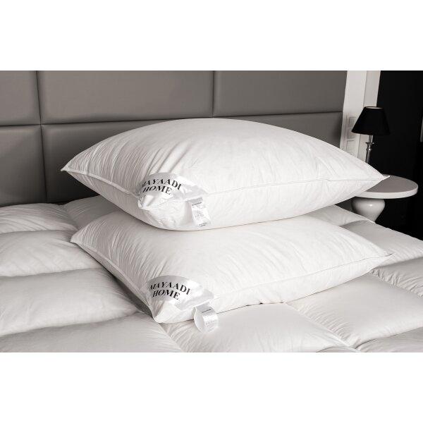 hs12 kopfkissen feder kissen 100 natur federnkissen daunen 80x80 cm 17 90. Black Bedroom Furniture Sets. Home Design Ideas