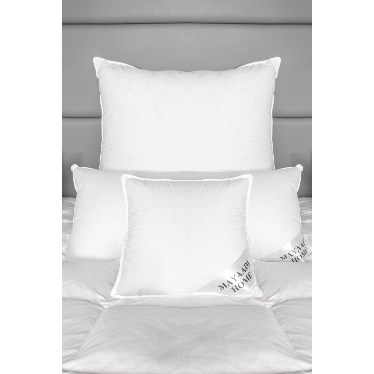 hs13 kopfkissen feder kissen 100 natur federnkissen daunen 80x80 cm 18 90. Black Bedroom Furniture Sets. Home Design Ideas