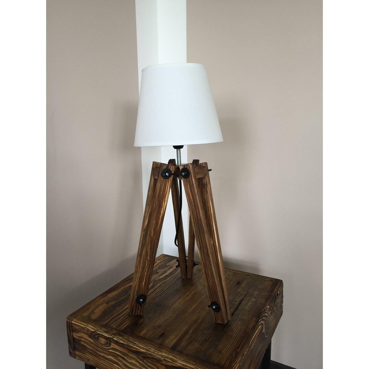 tripod lampe leuchte standleuchte altholz nachttischlampe schlafzimme 24 90. Black Bedroom Furniture Sets. Home Design Ideas