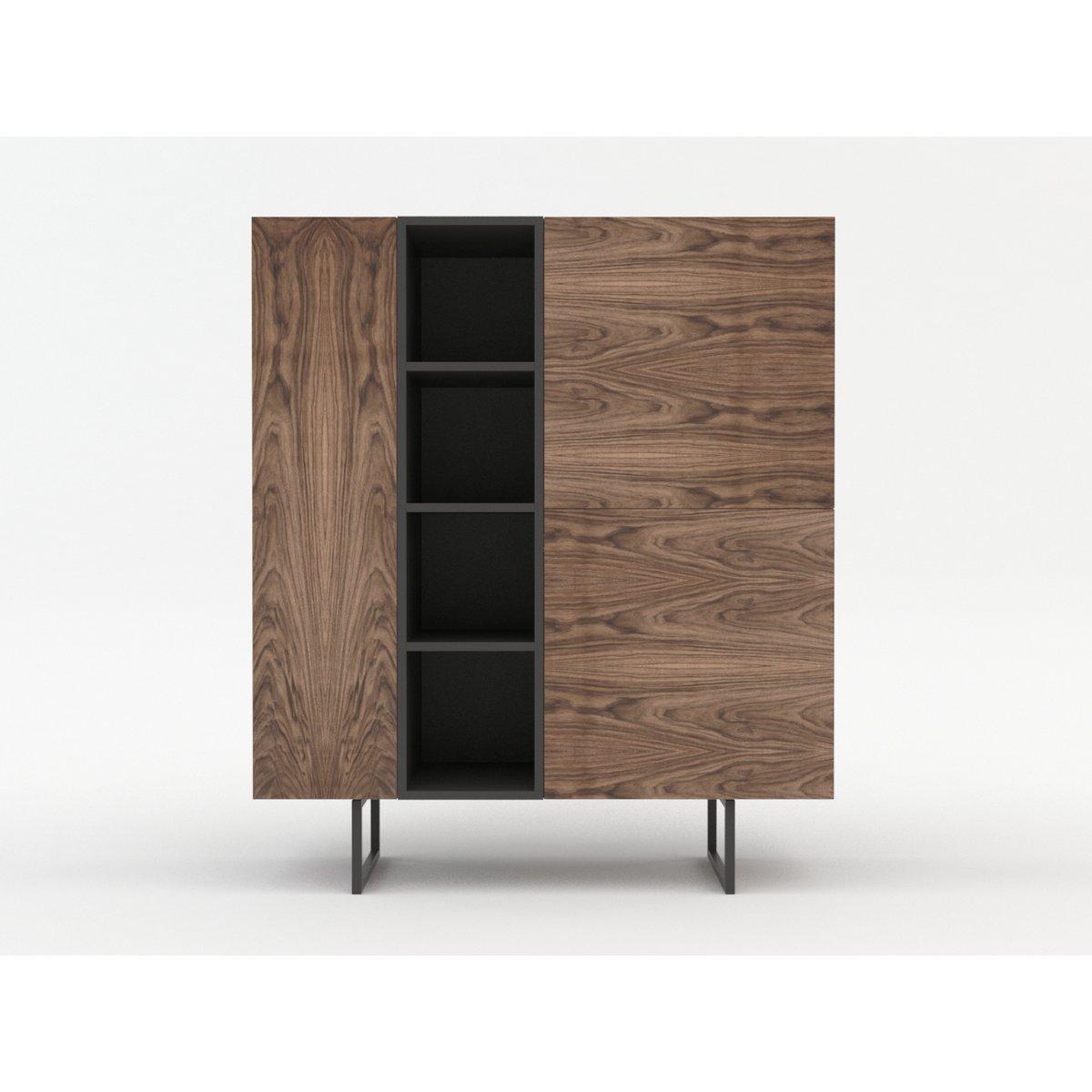 Kommode Sideboard Highboard Anrichte Wohnzimmer Schrank Holz Abato 12 728 90
