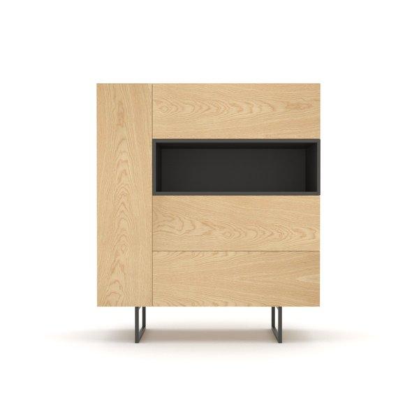 Kommode Sideboard Highboard Anrichte Wohnzimmer Schrank Holz Abato