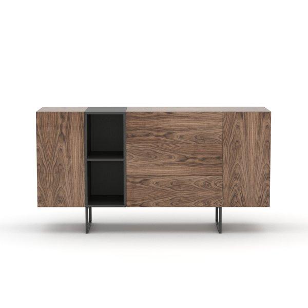 Kommode Sideboard Lowboard Anrichte Wohnzimmer Schrank Holz Abato 17