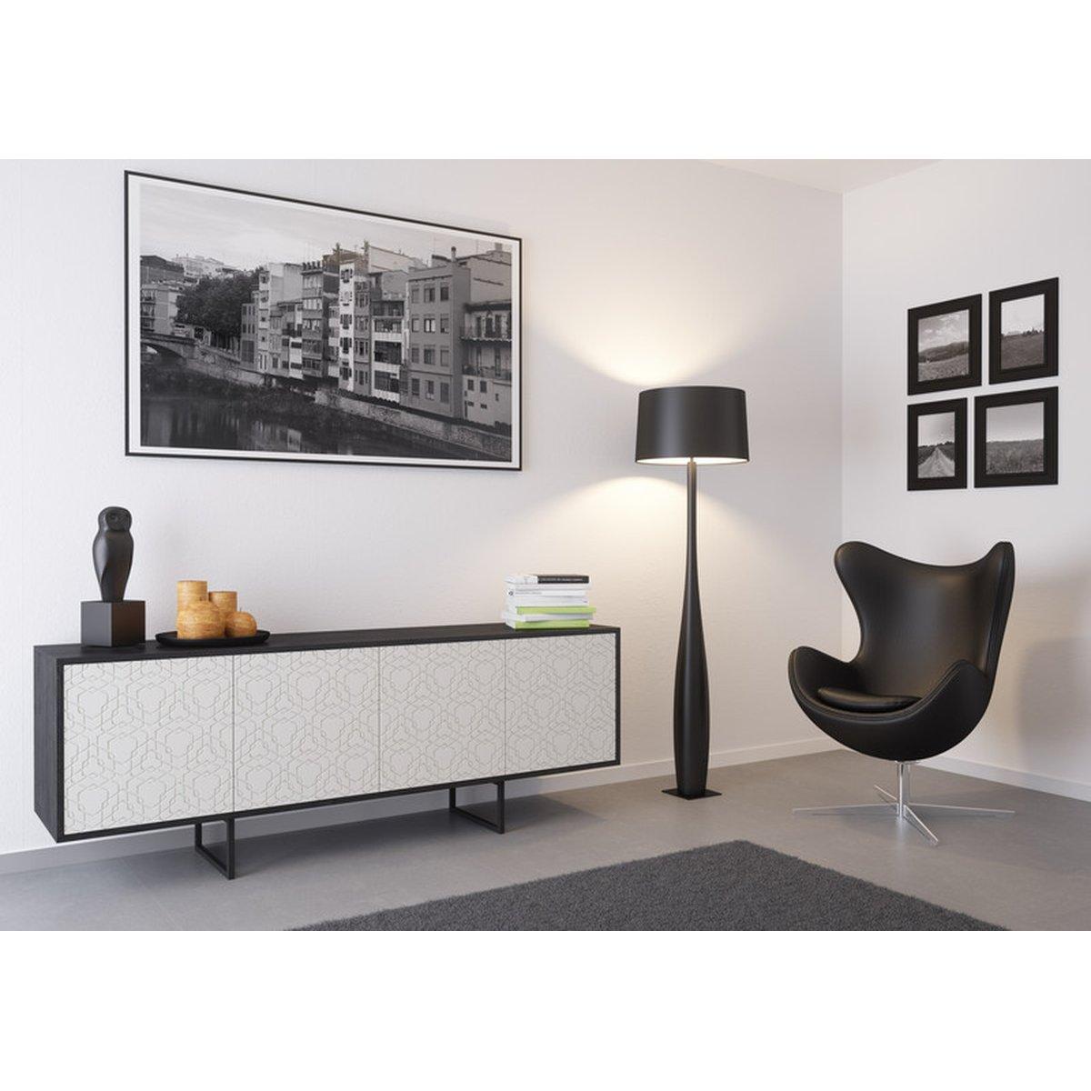 Kommode Sideboard Lowboard Anrichte Wohnzimmer Schrank Holz Abato Fx