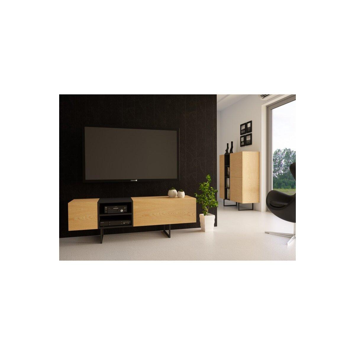 RTV Regal Sideboard Lowboard Anrichte Wohnzimmer TV Schrank ABATO-RT ...