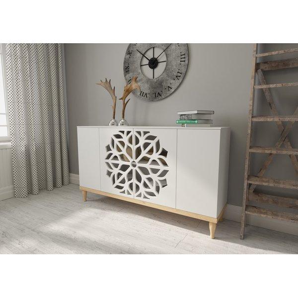 kommode sideboard highboard anrichte wohnzimmer schrank holz malva km 819 90. Black Bedroom Furniture Sets. Home Design Ideas